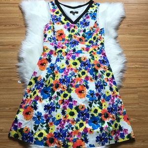 Petite sz large ABS Alan Schwartz floral dress